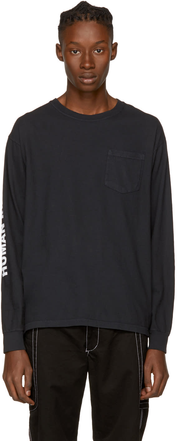 Image of Noah Nyc Black human Rights Pocket T-shirt