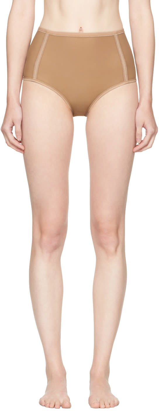 Image of Land Of Women Tan High-rise Briefs