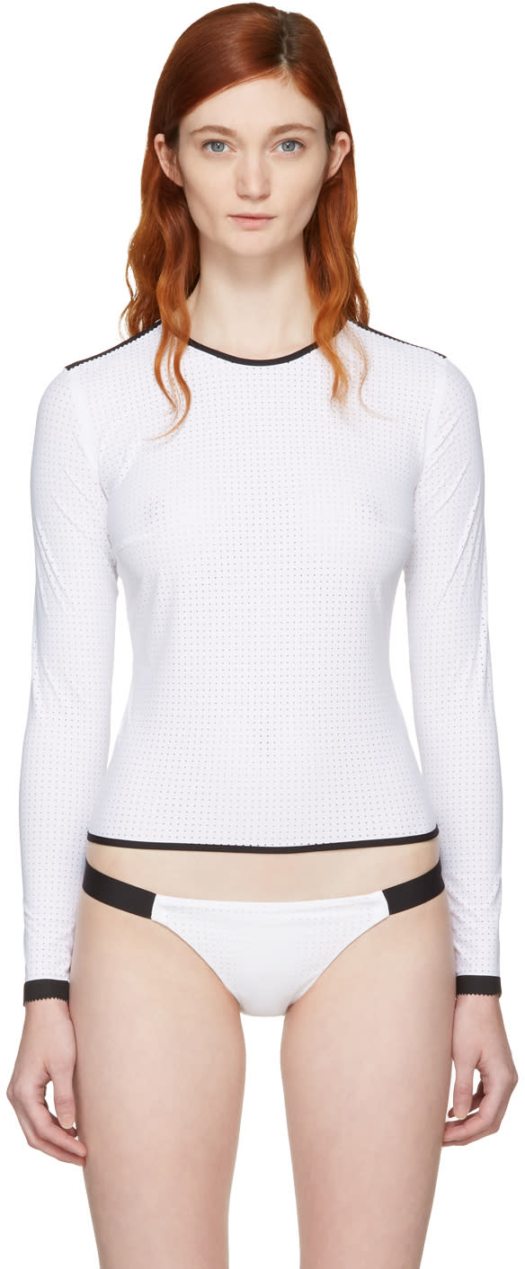 Image of Ward Whillas White and Black Marlen Top