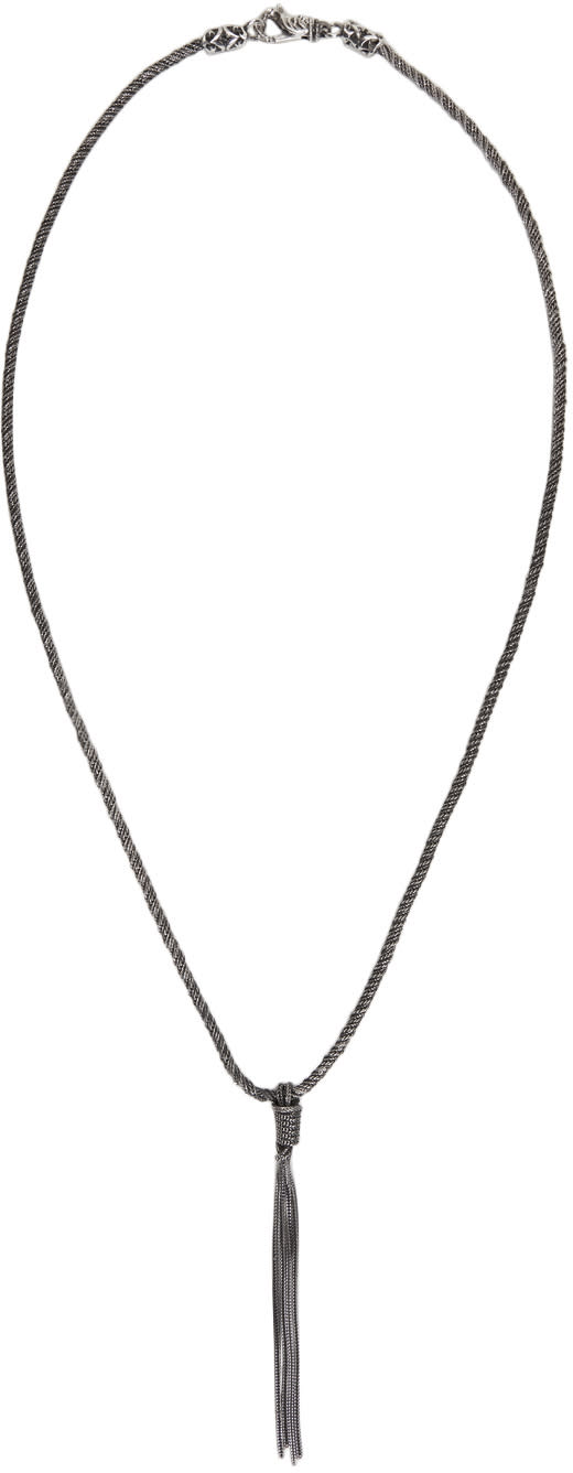 Image of Emanuele Bicocchi Silver Braided Rope Necklace