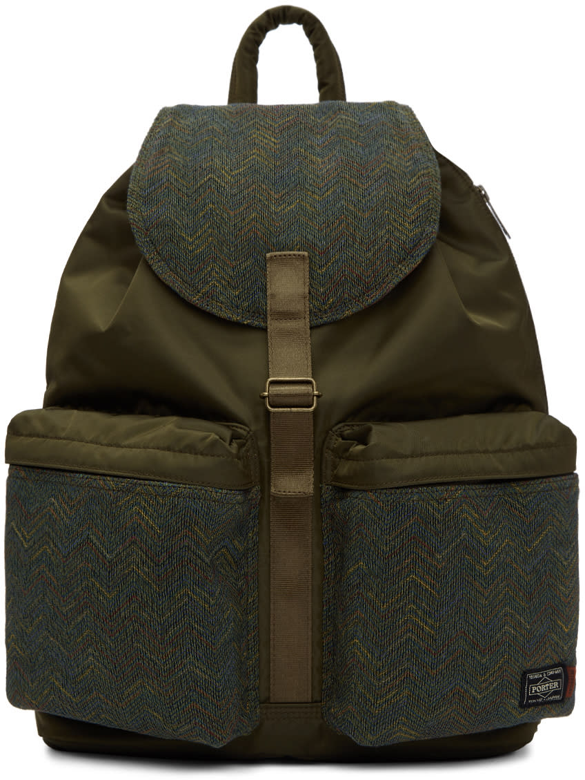 Image of Missoni Green Porter Edition Backpack