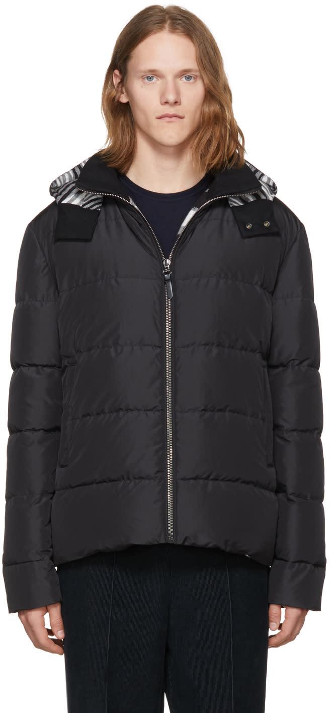 Image of Missoni Black Down Hooded Jacket