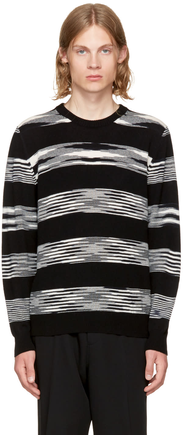 Image of Missoni Black and White Crewneck Sweater
