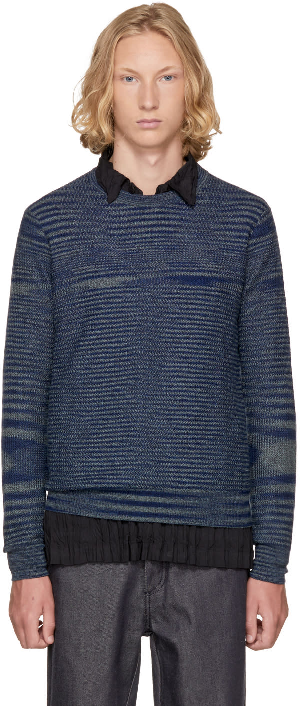 Image of Missoni Blue Striped Sweater