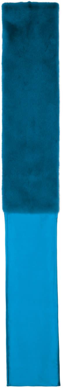 Image of Sies Marjan Blue Mini Mink Darcie Scarf