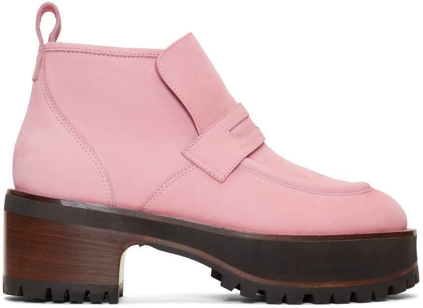 Sies Marjan Pink Jane Chukka Boots