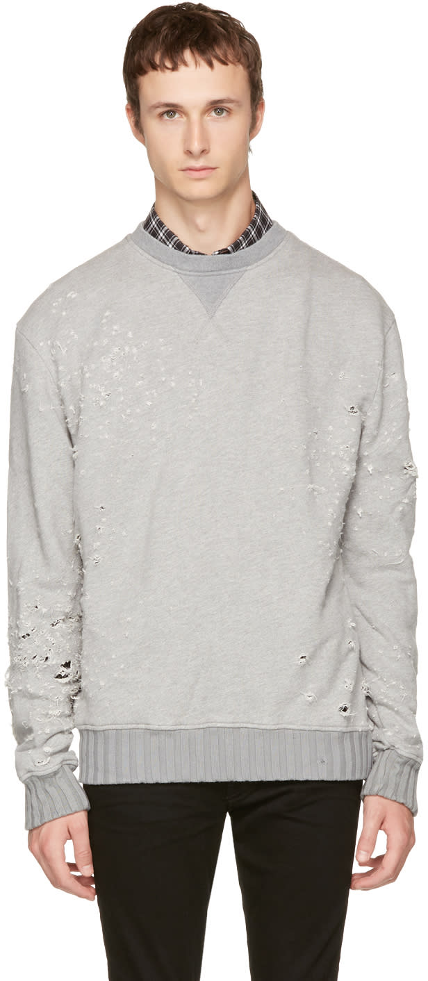 Image of Amiri Grey Shotgun Sweatshirt