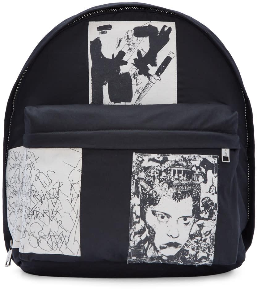 Image of Enfants Riches Déprimés Black Patchwork Backpack