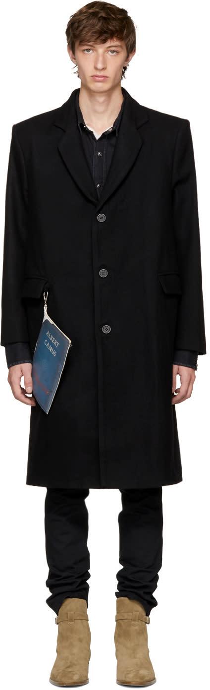Image of Enfants Riches Déprimés Black Wool stranger Overcoat