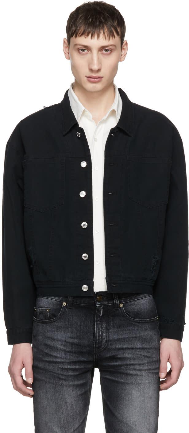 Image of Enfants Riches Déprimés Black Destroyed Japanese Heroin Jacket