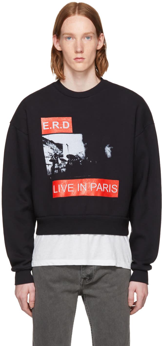 Image of Enfants Riches Déprimés Black live In Paris Crewneck Sweatshirt