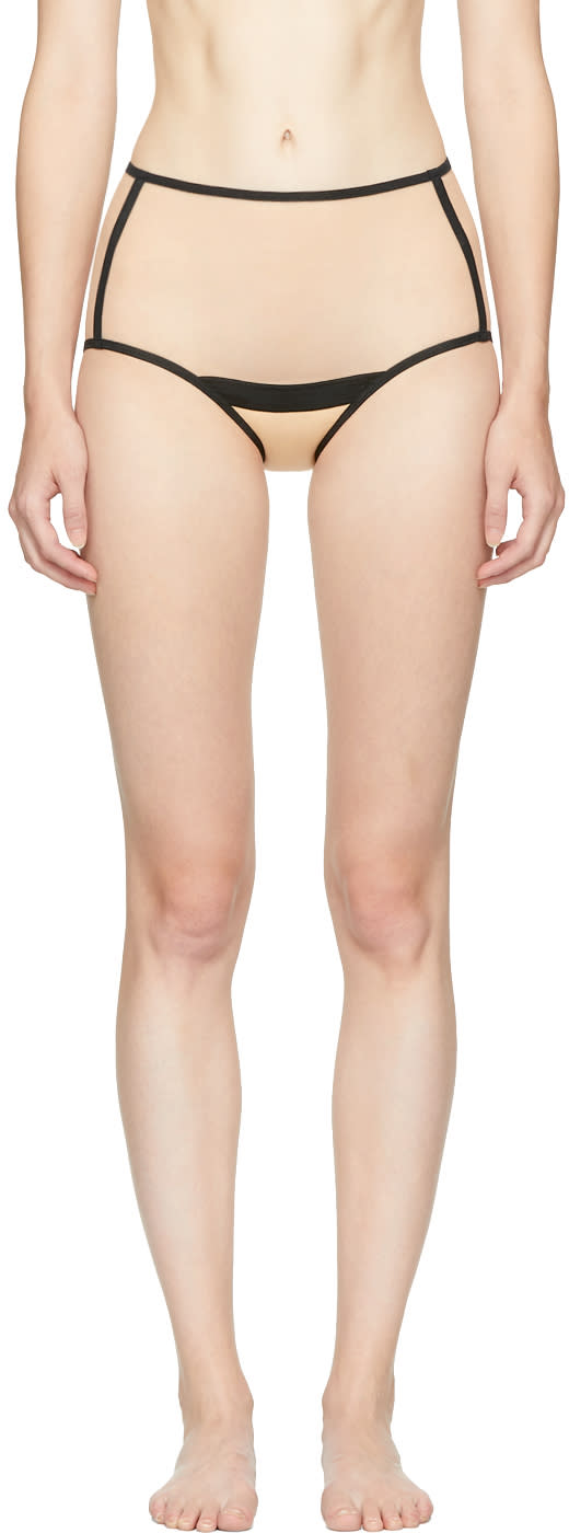 Image of Yasmine Eslami Beige Serena High-waisted Briefs