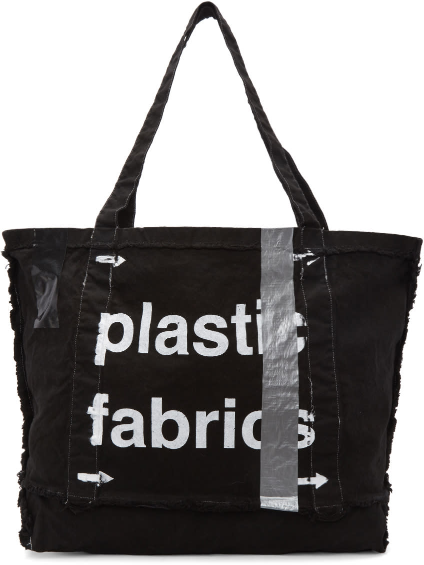 Image of A-cold-wall* Black Plastic Frayed Tote