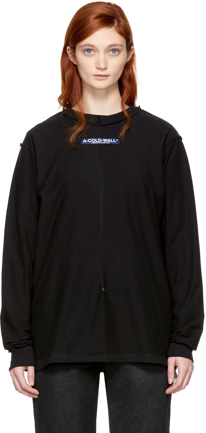 Image of A-cold-wall* Black Long Sleeve high Performance Window T-shirt