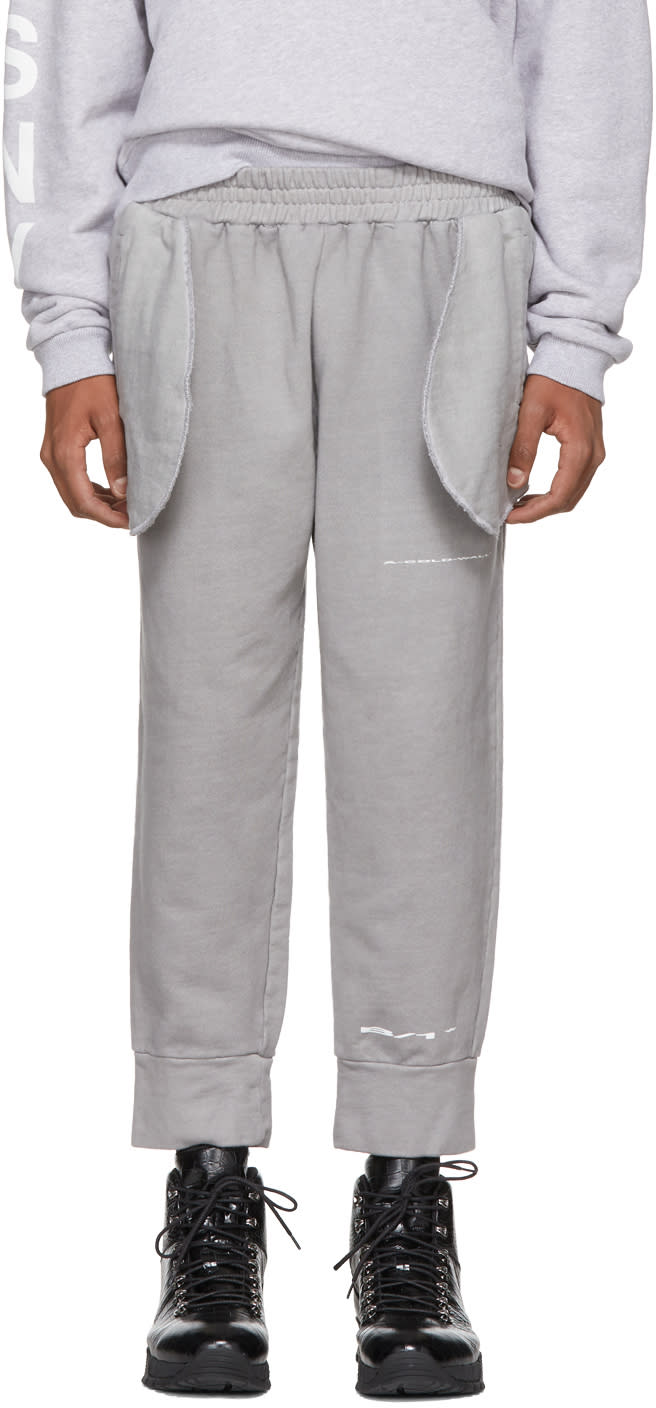 Image of A-cold-wall* Grey Compressed Logo Lounge Pants