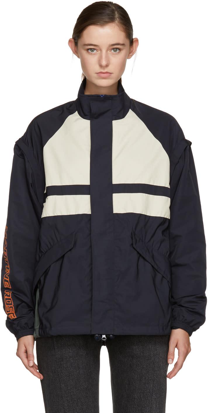 Image of Martine Rose Navy Panelled Sports Jacket