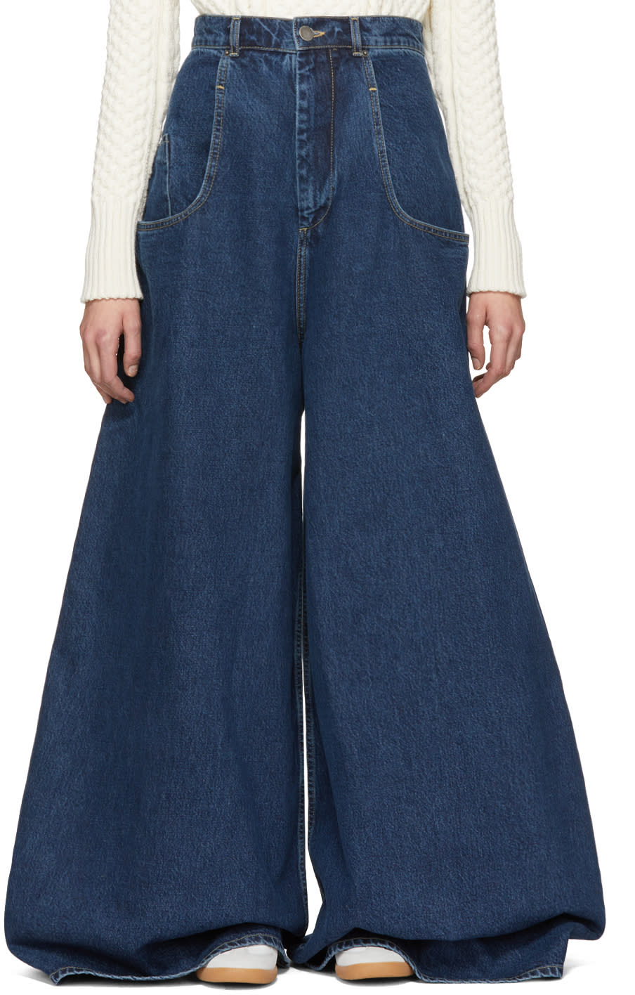 Image of Martine Rose Indigo Wide-leg Rave Jeans