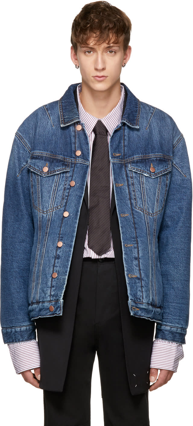 Image of Martine Rose Indigo Darted Denim Jacket