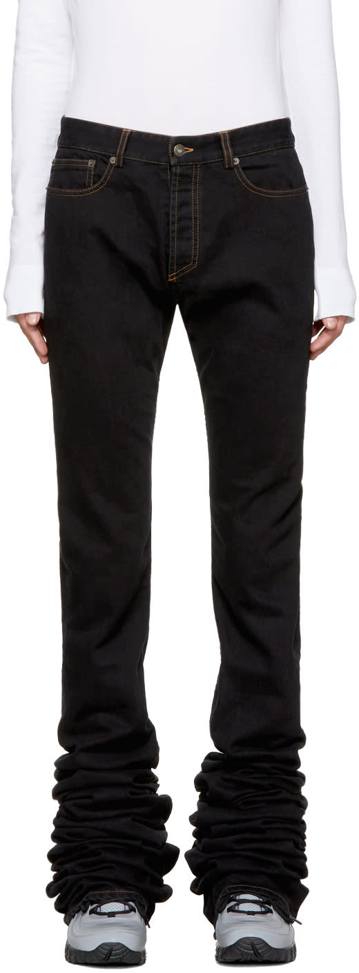 Image of Y-project Black Extra Long Jeans