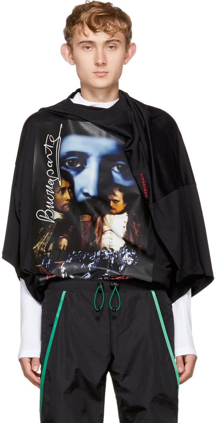 Image of Y-project Black Oversized slim Shady T-shirt