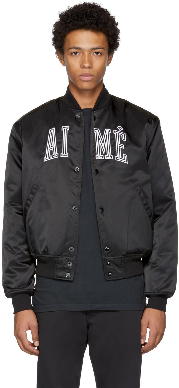 Image of Aime Leon Dore Black Team Bomber Jacket