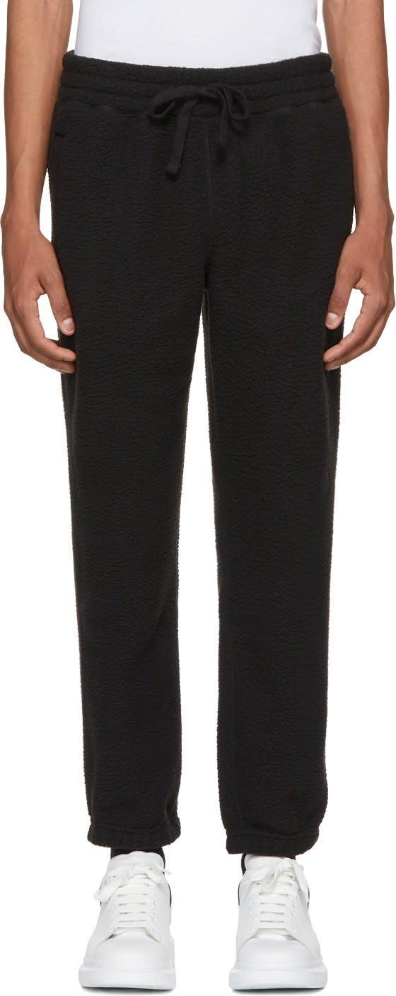 Image of Aime Leon Dore Black Deep Pile Fleece Camper Lounge Pants