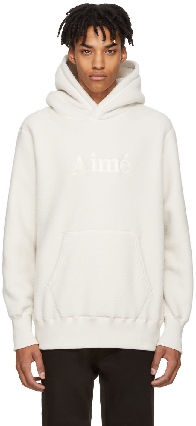 Image of Aime Leon Dore Off-white Fleece Kanaga Hoodie