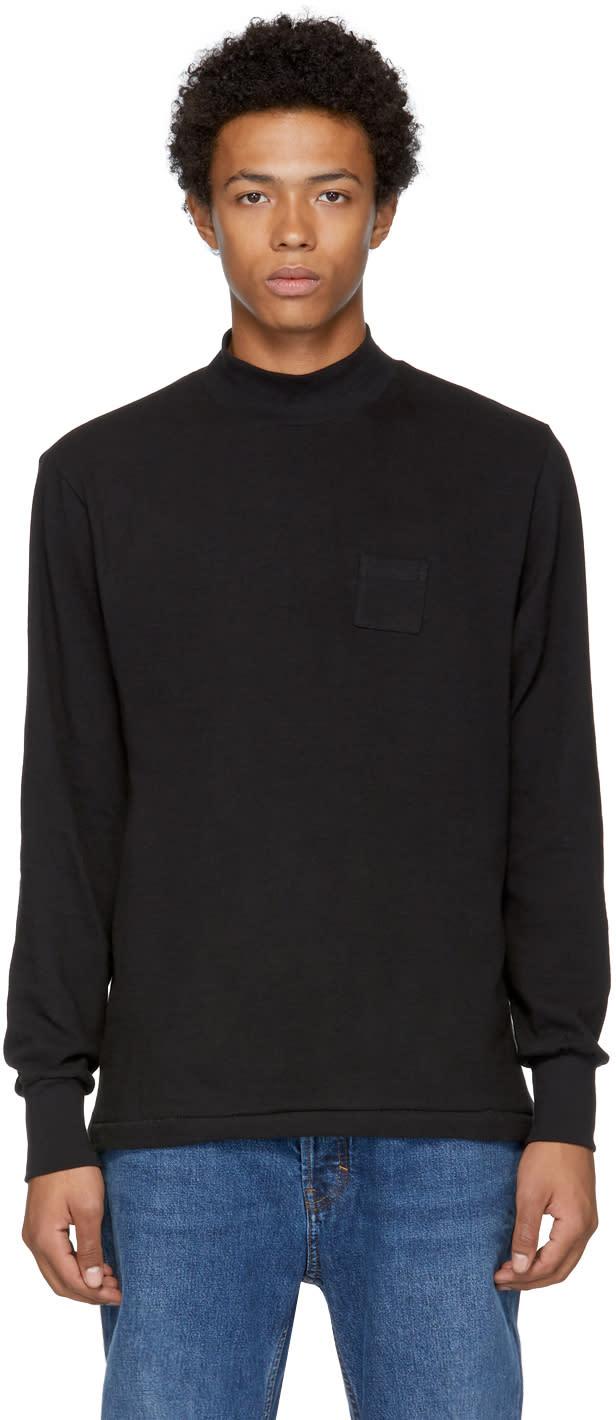 Image of Aime Leon Dore Black Long Sleeve Dime Bag T-shirt