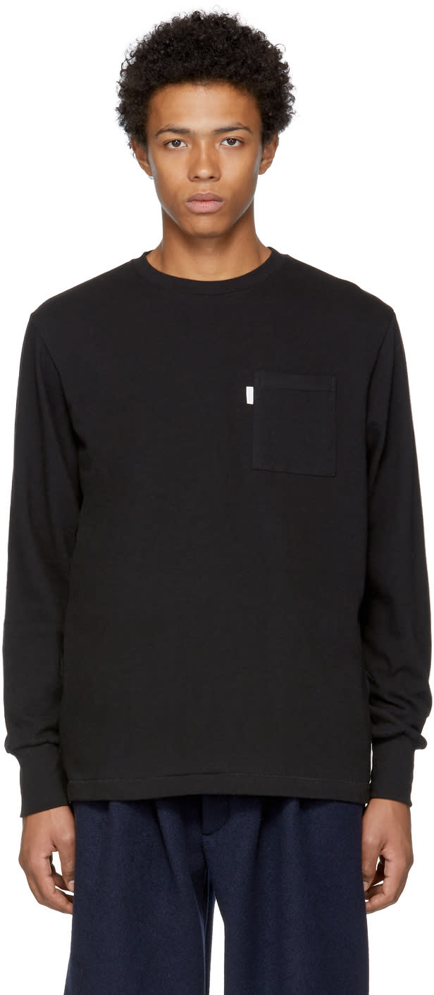 Image of Aime Leon Dore Black Long Sleeve Pocket T-shirt