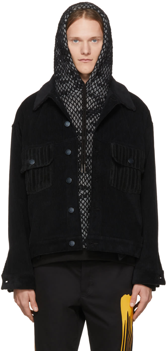 Image of Rochambeau Black Corduroy Short Jacket
