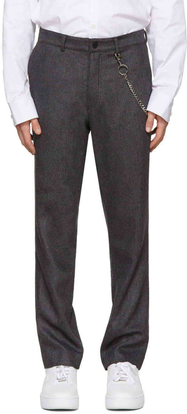 Image of Rochambeau Grey Pipe Trousers