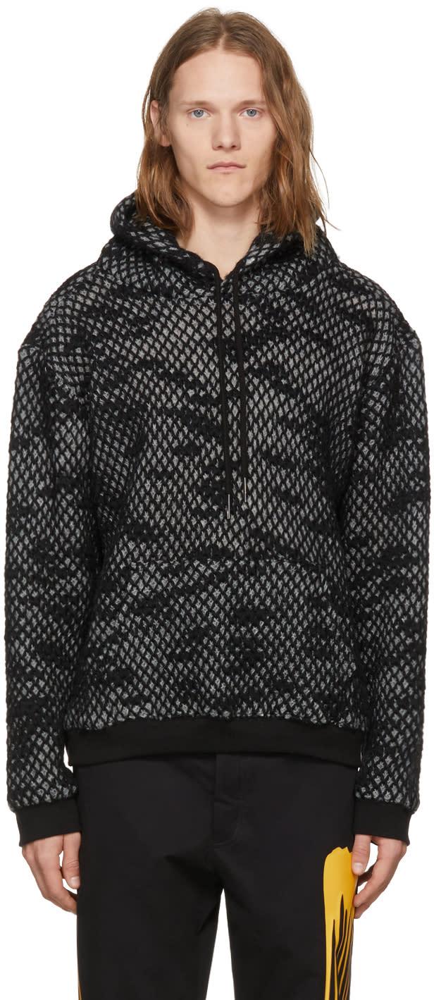 Image of Rochambeau Grey and Black Wool Hoodie