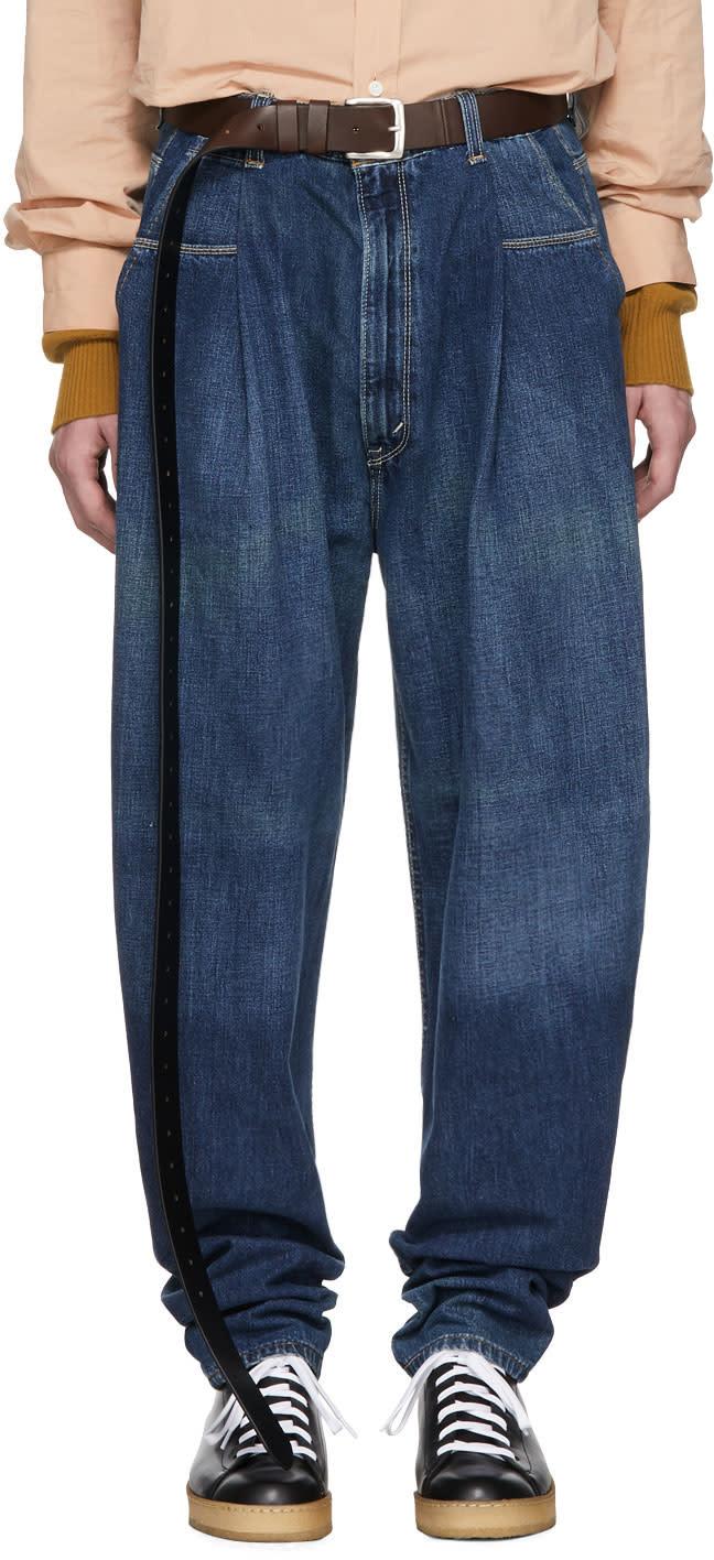 Image of Hed Mayner Blue Reused Jeans
