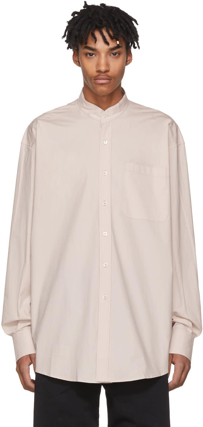 Image of Hed Mayner Beige Pocket Shirt