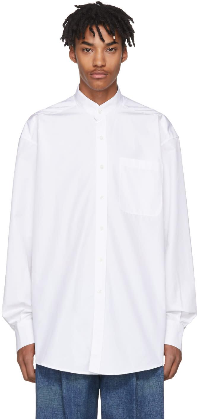 Image of Hed Mayner White Pocket Shirt