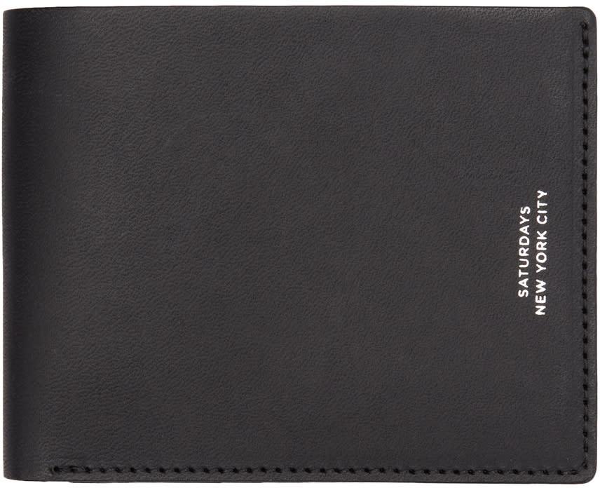 Image of Saturdays Nyc Black Bifold Wallet