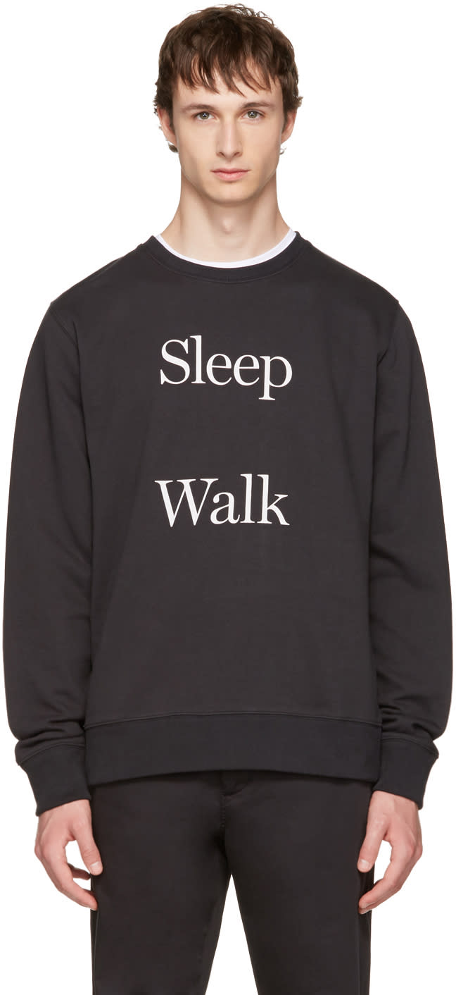 Image of Saturdays Nyc Black Bowery sleep Walk Sweatshirt