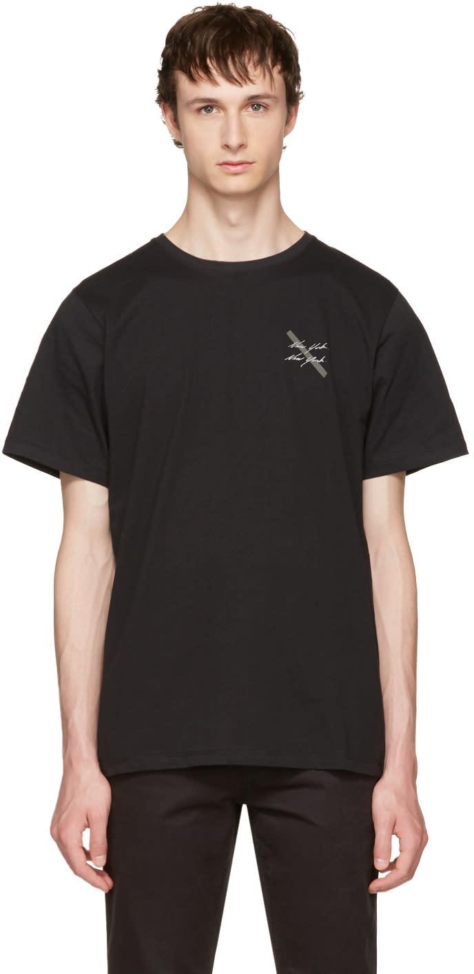 Saturdays Nyc Black new York Script T-shirt