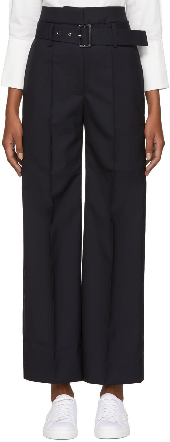 Image of Shushu-tong Navy Belted Trousers