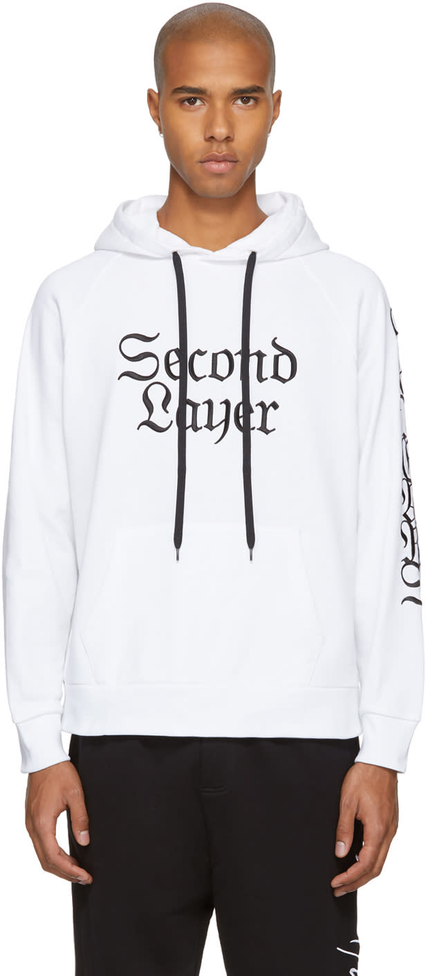 Image of Second-layer White 96 Tears Hoodie