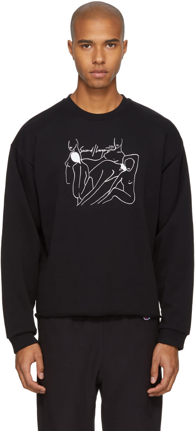 Image of Second-layer Black Cropped nothing To Dress Up To Sweatshirt