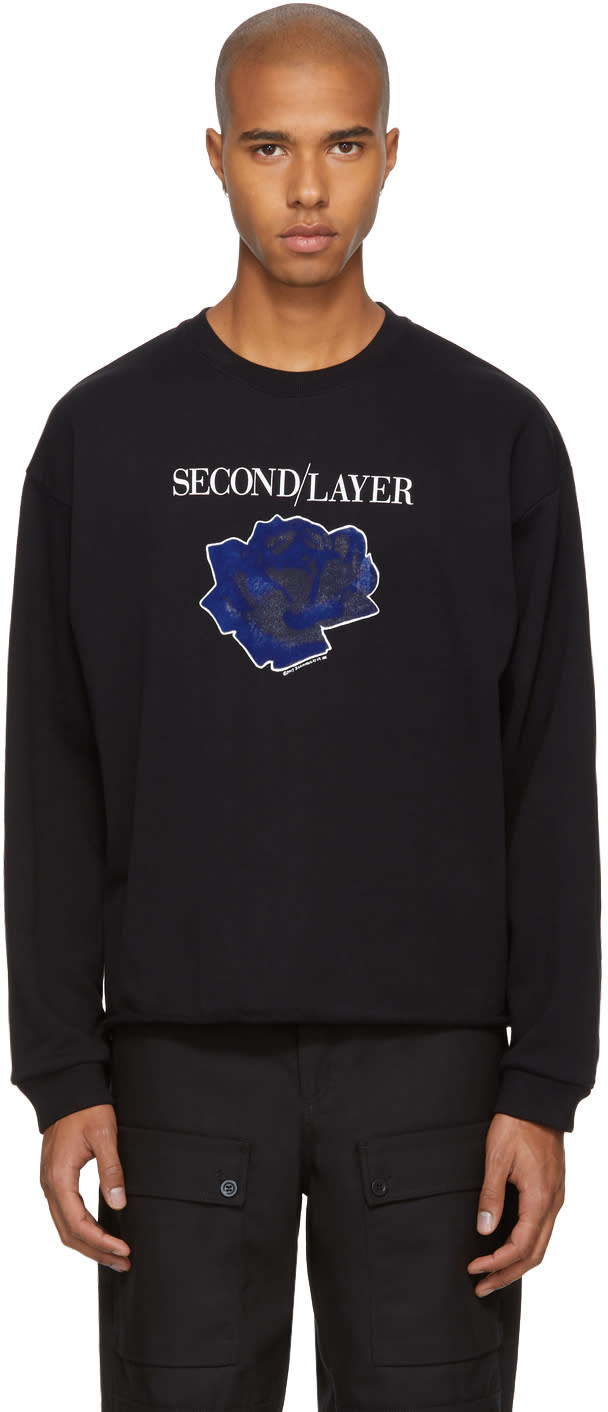 Image of Second-layer Black Cropped disconnect Tour Sweatshirt