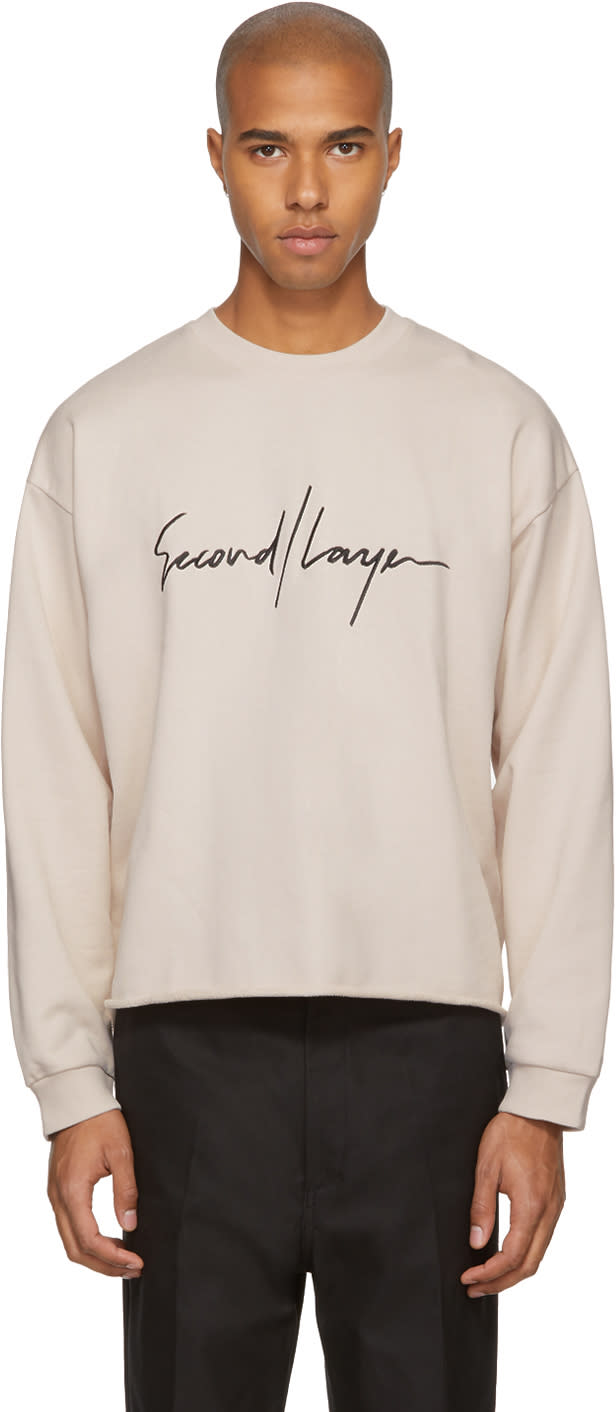 Image of Second-layer Pink Logo Sweatshirt
