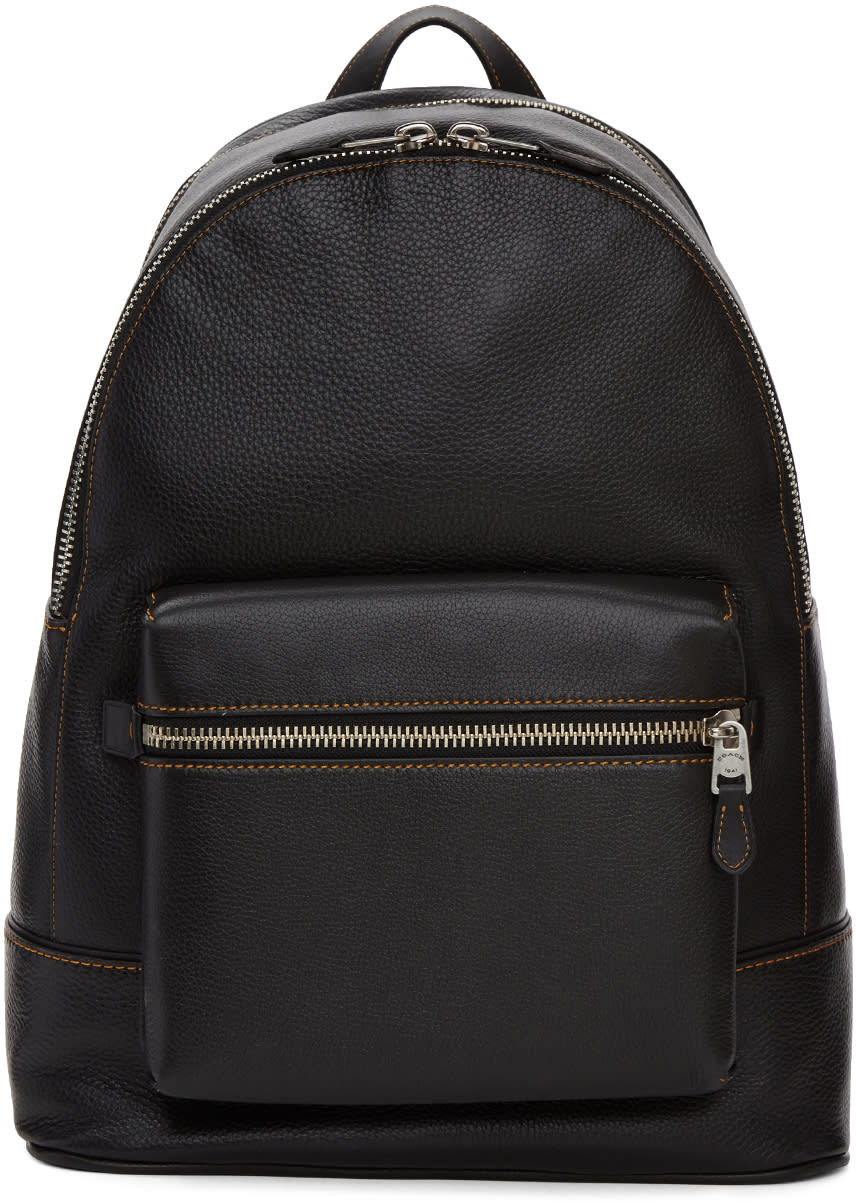 Image of Coach 1941 Black Leather Backpack