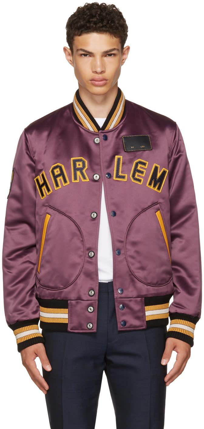 Image of Coach 1941 Purple Satin Varsity Jacket