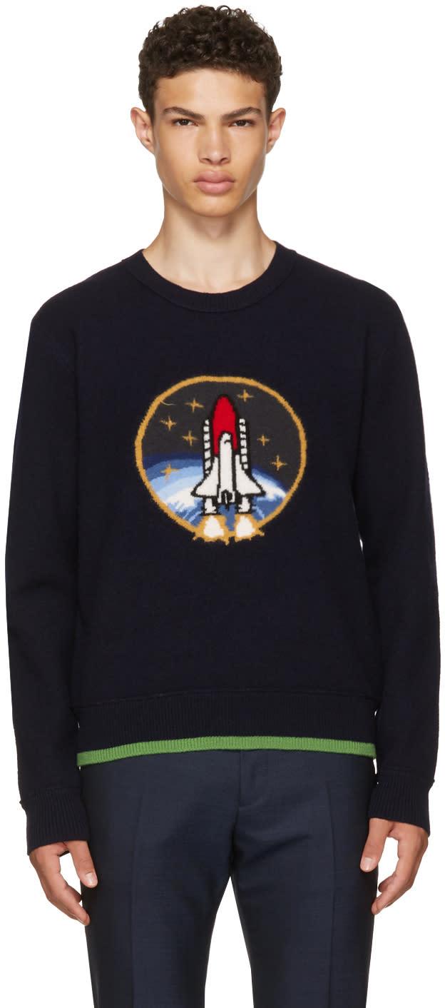 Image of Coach 1941 Navy Rocket Sweater