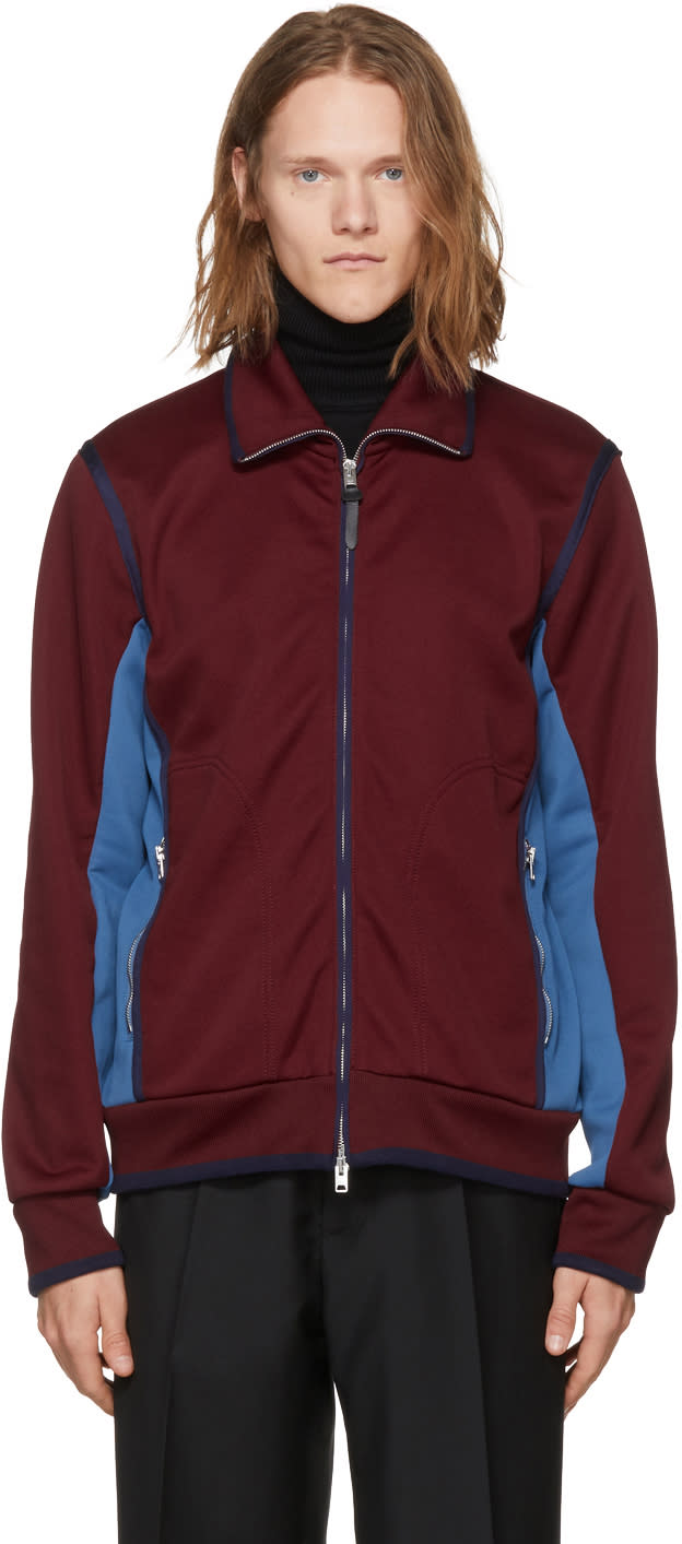 Image of Coach 1941 Burgundy and Blue Track Jacket
