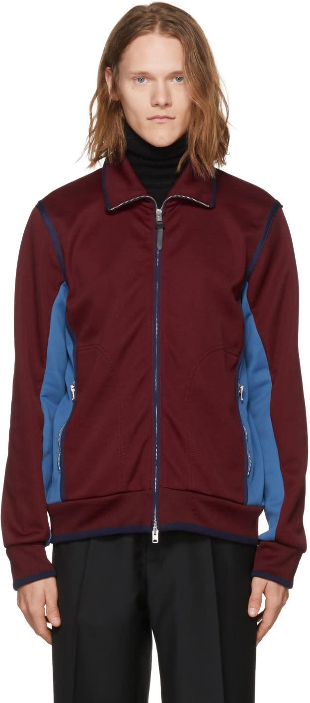 Image of Coach 1941 Burgundy and Blue Track Jacket