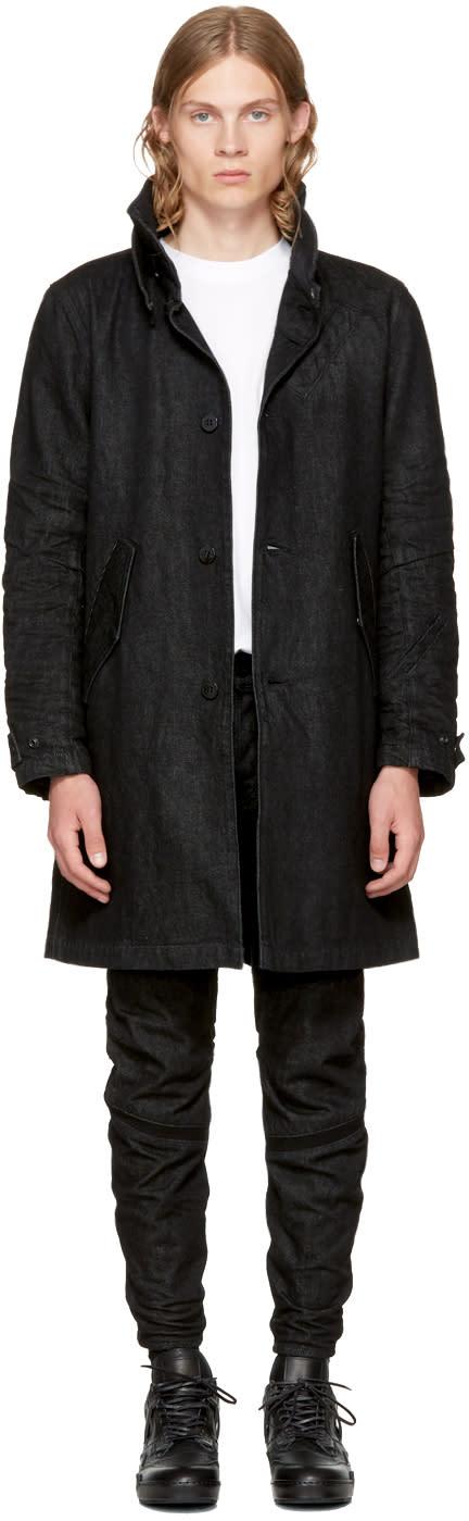 Image of Raw Research Black Denim Empral Coat
