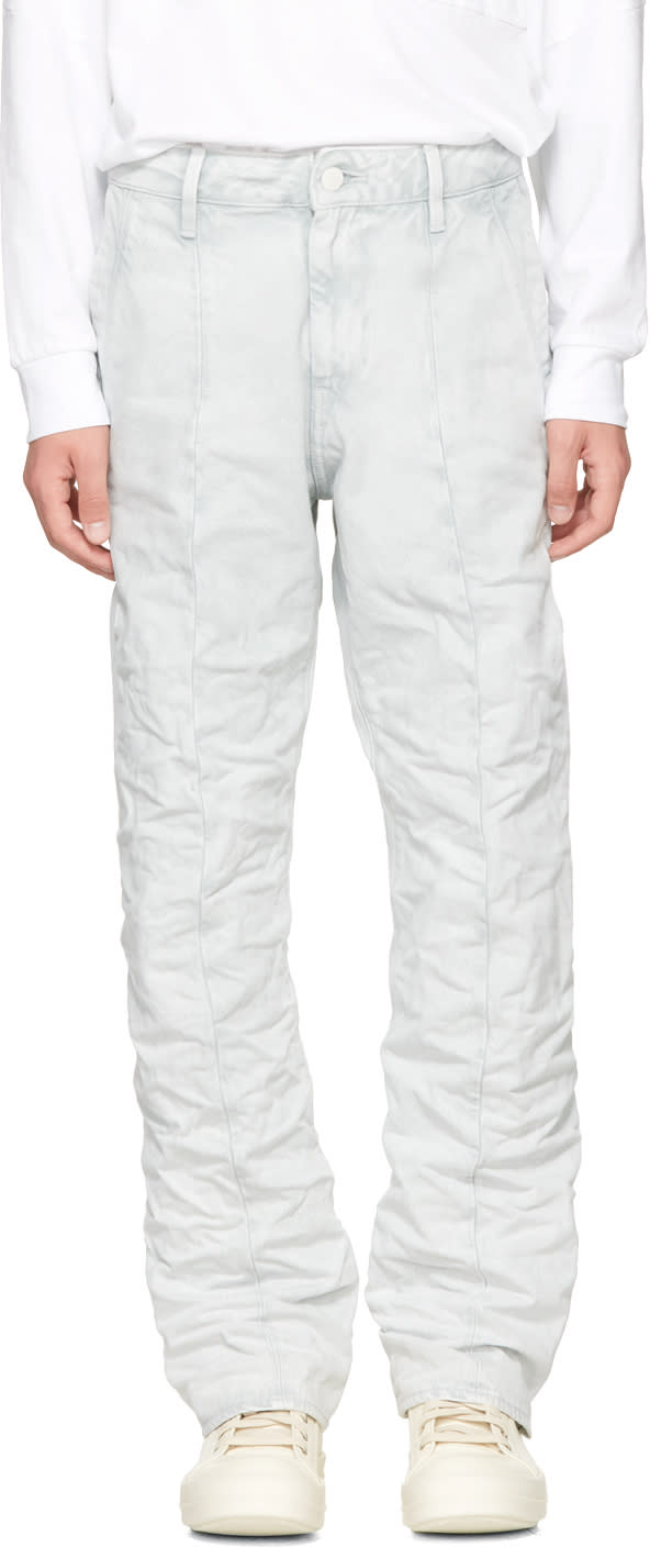 Image of Raw Research Blue Lanc Chino Jeans